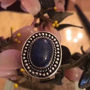 Vintage 925 lapis ring